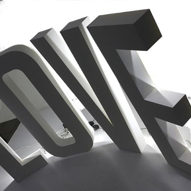 Litery przestrzenne, 3D